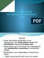 Faktor-faktor Yang Mempengaruhi Ketoksikan Racun