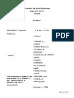 Tongko v Manufacturers Life Insurance - GR 167622 - 640 SCRA 395