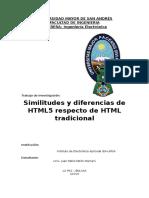 Similitudes y Diferencias Entre HTML y HTML5