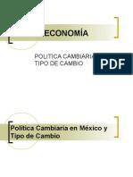 Politica Cambiaria y Tipo de Cambio en Mexico