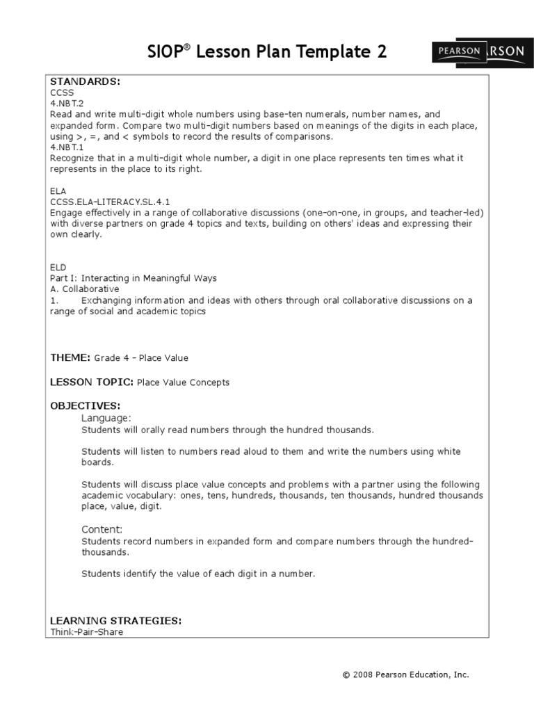 Daily Lesson Plan Template 9 Free Word Excel PDF Format. Lesson Plan ...