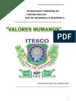 3. Valores Humanos Enero