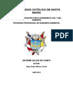 Informe de Salida de Campo