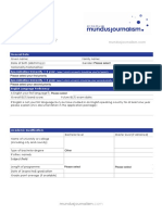 Mundus Journalism - Application Form