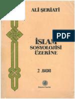 Ali Şeriati - İslâm Sosyolojisi Üzerine.pdf