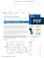 Police Siren Using NE555 - Electronic Circuits and Diagram-Electronics Projects and Design