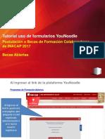 Tutorial Uso de Plataforma YouNoodle 2017 - Becas Abiertas