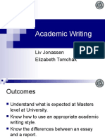 Academic Writing by Liv Jonassen