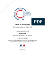 Rapport Financement Transmission TPE PME - 07.12.16