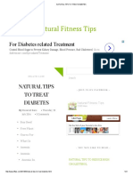 Natural Tips to Treat Diabetes