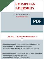 Materi Kepemimpinan Leadership s1 2011