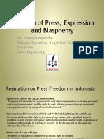 Freedom of Press and Blasphemy