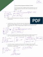 Linear Expanison Worksheet (Key)