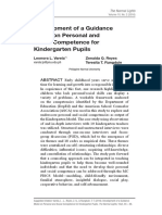 Development of a Guidance Model on Personal and Social Competence for Kindergarten Pupils