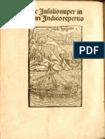 Columbus 1494 Epistola de Insulis Nuper Inventis