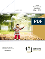 Taj Pharma Brochure  API  2017