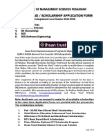 Ihsan Trust Student Loan Application Form UG Level 2014