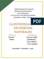 Trabajo (La Investigacion en Ciencias Naturales)