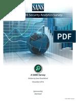 Survey Sec-Analytics 2016