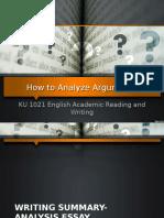 Analyzing Arguments