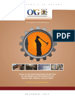 Regulation Monitoring Promotion of Mining Sector - Auditor General's report