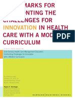 Benchmarks for Confronting Challenges for Innovation in Health Care With a Modern Curriculum