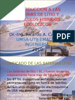 BATERIAS Litio Cardona | Vehículo híbrido | Vehículo