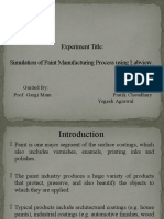 Simulation of Paint Manufacturing Process