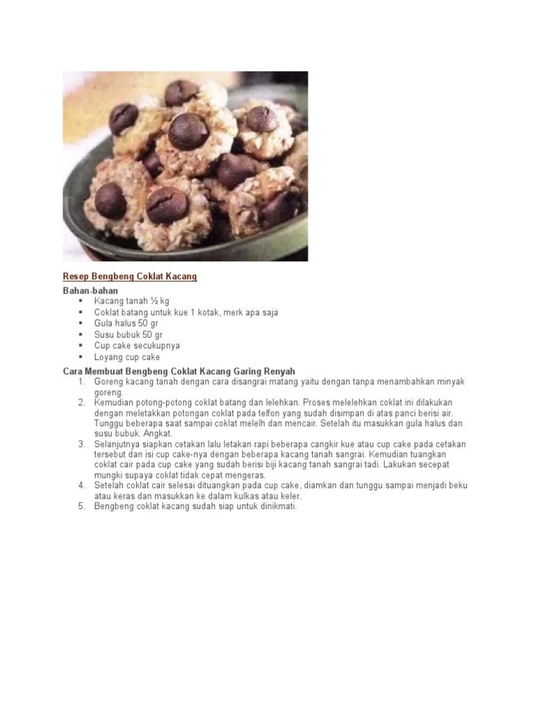 Resep Bengbeng Coklat Kacang
