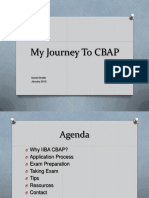 My Journey to CBAP