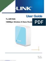 tlwr702n manual