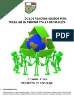 proyecto reciclaje 2016