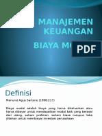 Manajemen Keuangan - Biaya Modal
