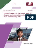 Fs16-13 FCA Interim Report on Crowdfunding