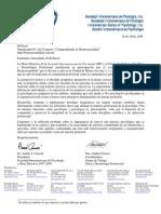 Carta de la MD de la SIP a Congreso Comprendiendo la Homosexualidad - 2008