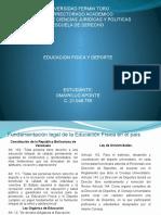 EL FUNDAMENTO LEGAL DEL DEPORTE SEGÚN NUESTRA LEGISLACIÓN VENEZOLANA