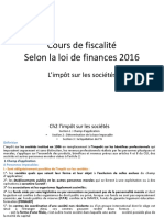 Cours de Fiscalité Selon La Loi de Finances 2016 - Ch2 is Pr. ELFATHAOUI