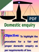 Domestic Enquiry