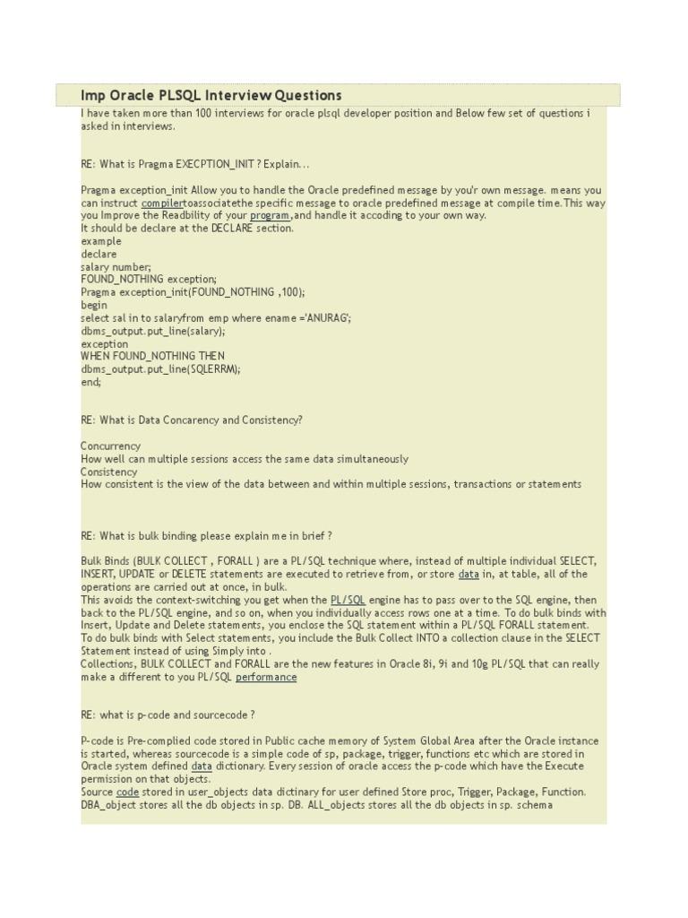 Imp oracle plsql interview questions plsql subroutine baditri Choice Image