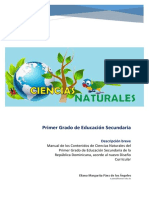 Contenidos de Ciencias Naturales de Primer Grado de Educación Secundaria