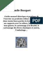 Guide Manuel de l'Ouvrier Relieur par Emile Bosquet