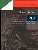 Chateaubriand - Memorias de ultratumba - Introducción [ed. El Acantilado].pdf