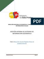 GESTIÓN INTERNA DE SISTEMAS DE INFORMACIÓN GEOGRÁFICA