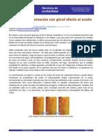 Contaminacion con Glicol