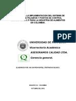 Manual Para Montajes de Sistemas de Calidad 2016
