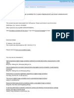 2D DIC for in Plane Strain Measurement
