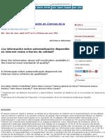 ¿La información sobre automedicación disponible en internet reúne criterios de calidad?