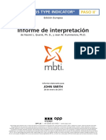 OPP MBTI Step II Interpretive Report Spanish