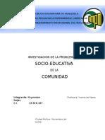 Investigacion de La Problematica Socio-educativa en La Comunidad 01-11-16