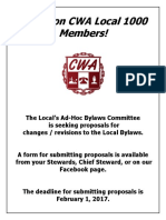 Proposed Bylaws Changes Flyer